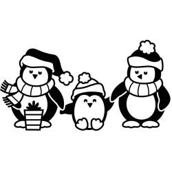Pochoir de gaufrage Darice - Pingouins