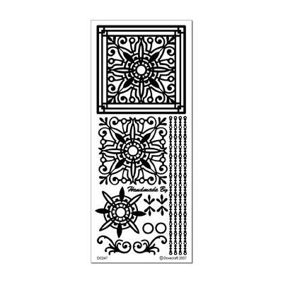 Stickers Peel-off - Médaillons carrés - Argent