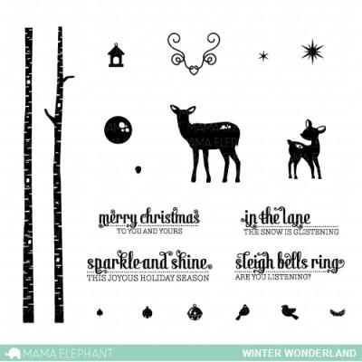 Tampons clear Mama Elephant - Winter Wonderland