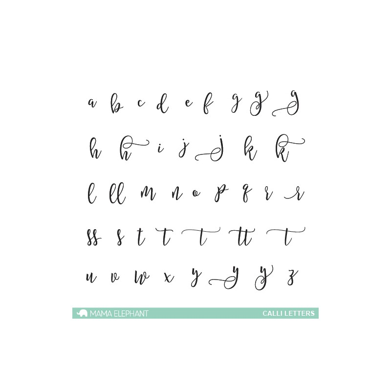 Tampons clear Mama Elephant - Calli Letters