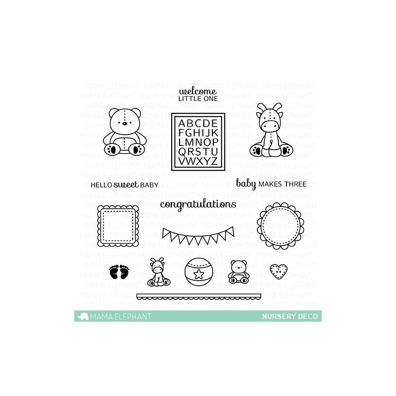 Tampons clear Mama Elephant - Nursery Deco