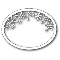 Die Memory Box - Snowflake Oval Frame