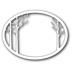 Die Memory Box - Forest Clearing Oval Frame