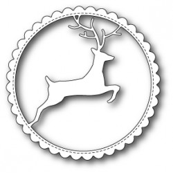 Die Memory Box - Reindeer Scalloped Circle Frame