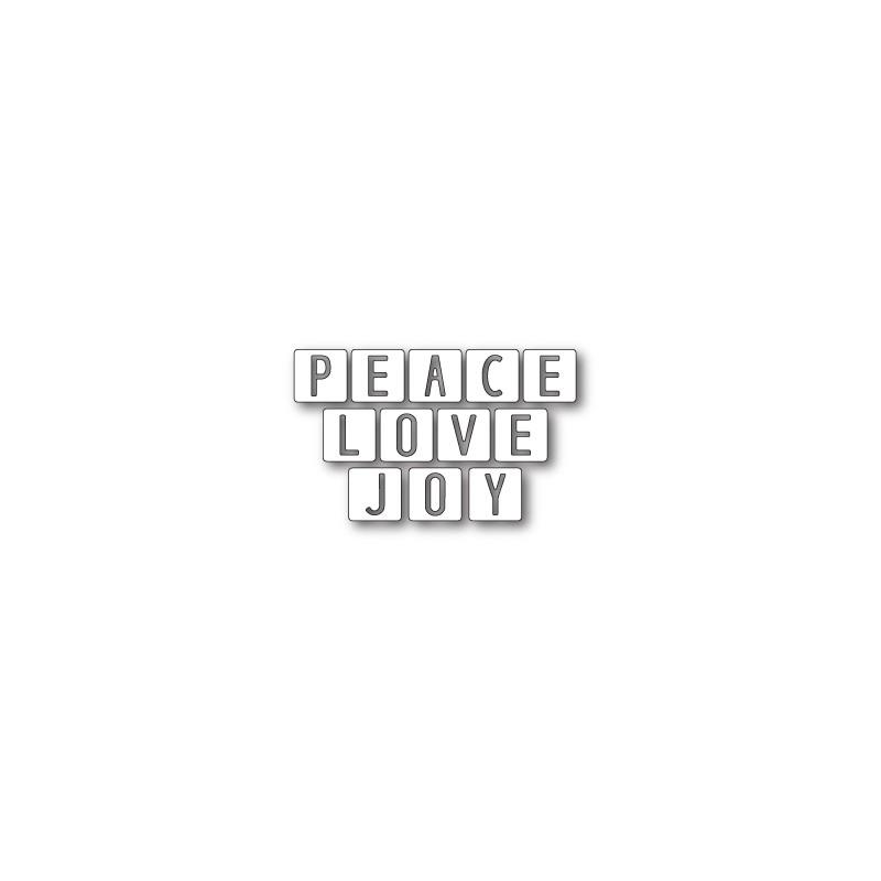 Die Memory Box - Peace Love and Joy Tiles