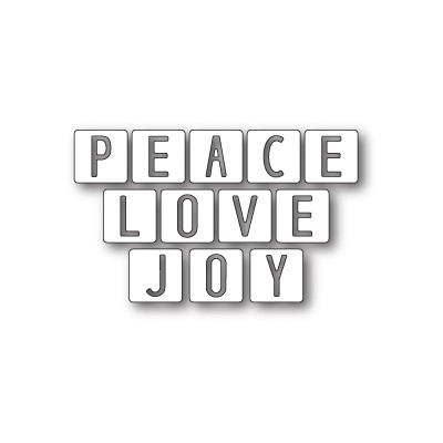 Die Memory Box - Peace Love and Joy Tiles