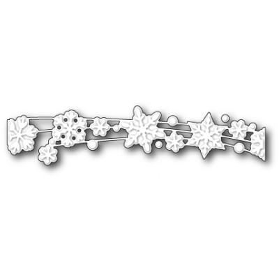 Die Poppystamps - Snowflake Shimmer Ribbon