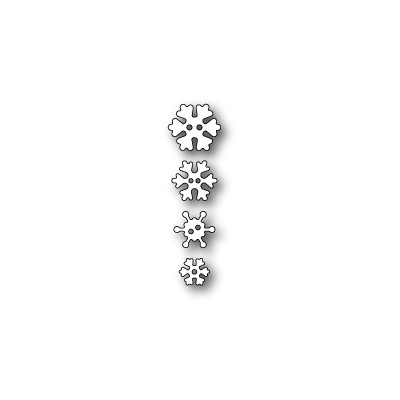 Die Poppystamps - Frosty Snowflake Buttons
