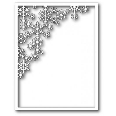 Die Poppystamps - Crystal Snowflake Corner Frame