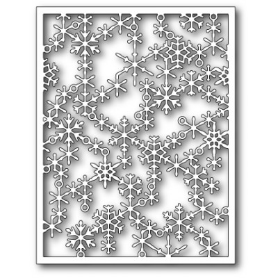 Die Poppystamps - Snowflake Lattice Frame