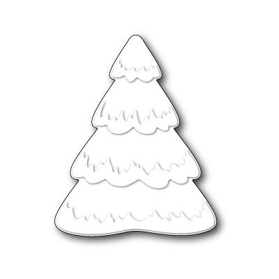 Die Poppystamps - Puffy Snowtree
