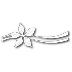 Die Poppystamps - Poinsettia Ribbon