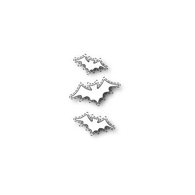 Die Poppystamps - Stitched Batty Collage