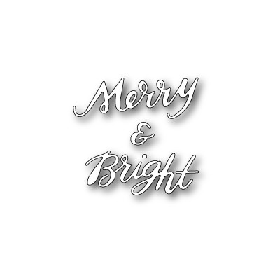 Die Poppystamps - Merry and Bright Brushed