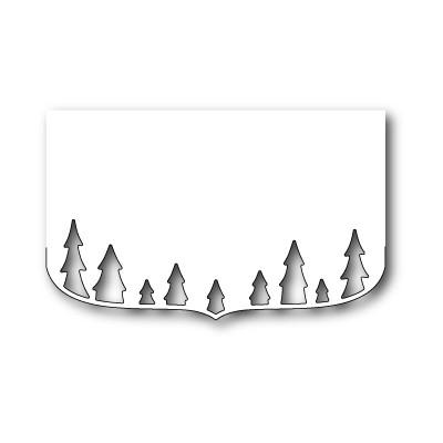 Die Poppystamps - Elegant Tree Border Contour