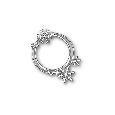 Die Poppystamps - Scribble Snowflake Circle