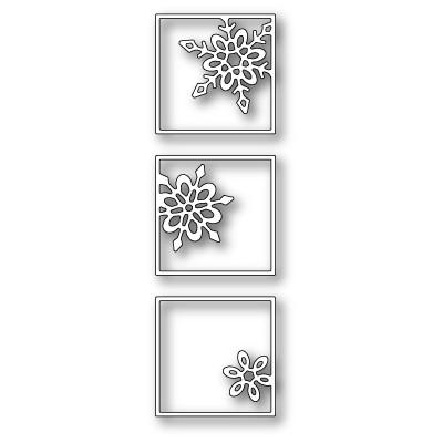 Die Poppystamps - Snowflake Triptych