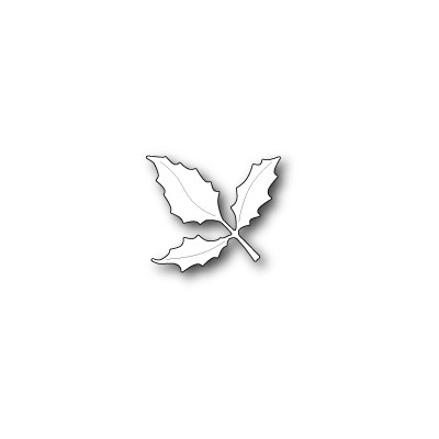 Die Poppystamps - Holly Leaf Branch
