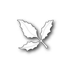 Die Poppystamps - Holly Leaf Branch