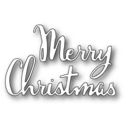 Die Poppystamps - Merry Christmas Script