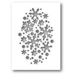Die Poppystamps - Snowflake Oval Collage