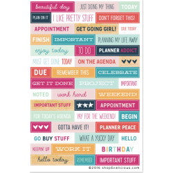 Stickers Evalicious - On Our Way - Planner Wordfetti