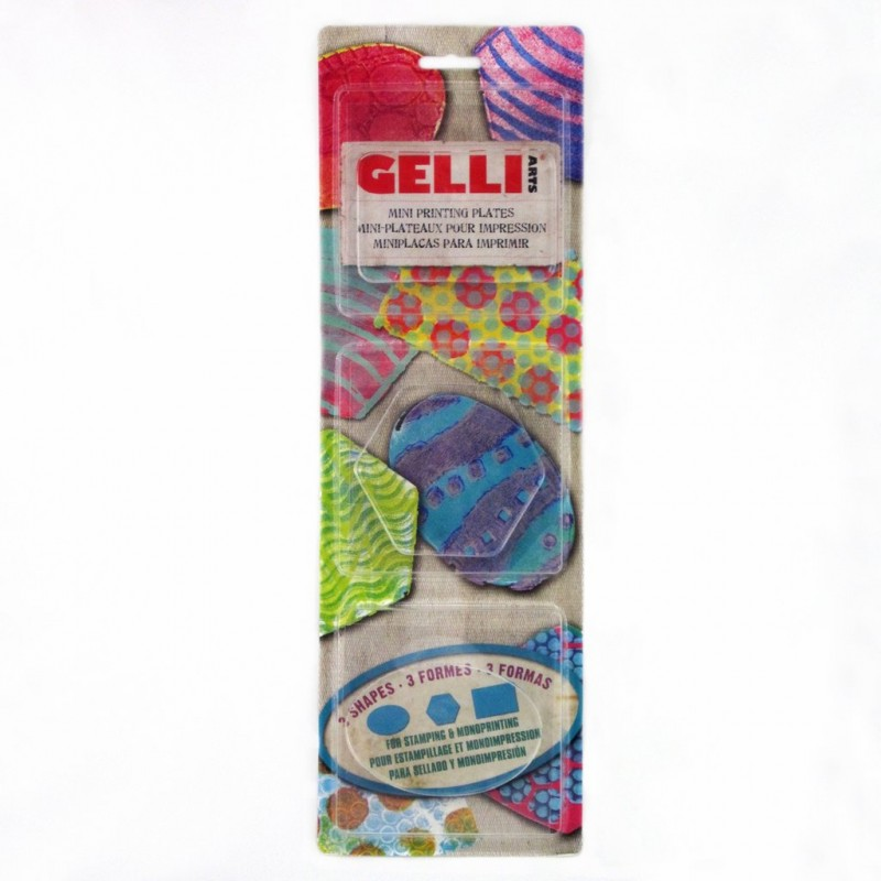 Gelli Plate Mini 7.5x7.5 cm - Rectangle/Hexagone/Ovale