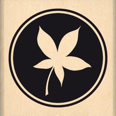 Tampon bois Florilèges - Pastille de feuille