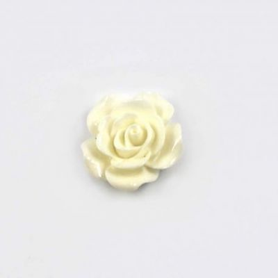 Rose en résine 20mm (lot de 20) - Blanc