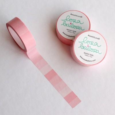 Washi Tape Lora Bailora - Dégradé rose pastel