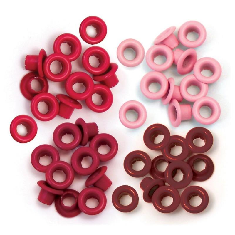 """Oeillets Standards 3/16"""" - Coloris Rouge"""