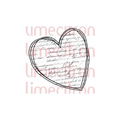 Tampon Lime Citron - Coeur écriture