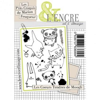 Tampons L'Encre & l'Image - Les P'tits Croquis de Marion Feugueur - Les Coeurs Tendres de Moogli