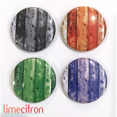 "Badges Lime Citron 1"" - Bois d'Halloween"