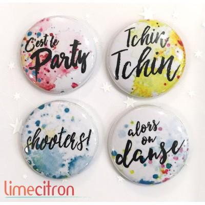 """Badges Lime Citron 1"""" - Party"""