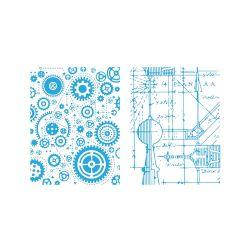 Pochoirs de gaufrage Sizzix - Blueprint & Gears Set