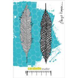 Tampons Carabelle Studio - Scribbled Feathers by Birgit Koopsen