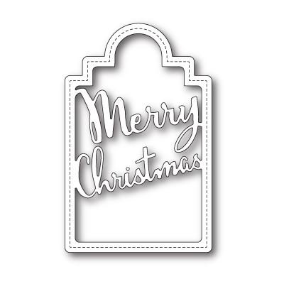 Die Poppystamps - Merry Christmas Tag