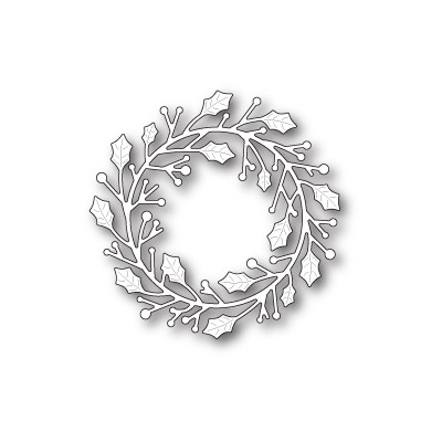 Die Poppystamps - Home for the Holidays Wreath