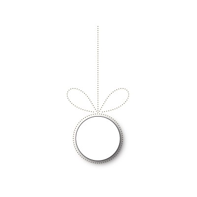 Die Poppystamps - Pinpoint Bow and Ornament