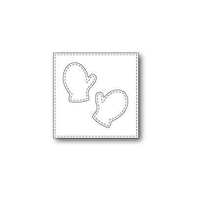 Die Poppystamps - Stitched Mitten Square