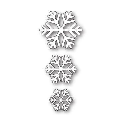 Die Poppystamps - Classic Snowflake Trio