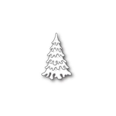 Die Poppystamps - Small Fluffy Snow Tree