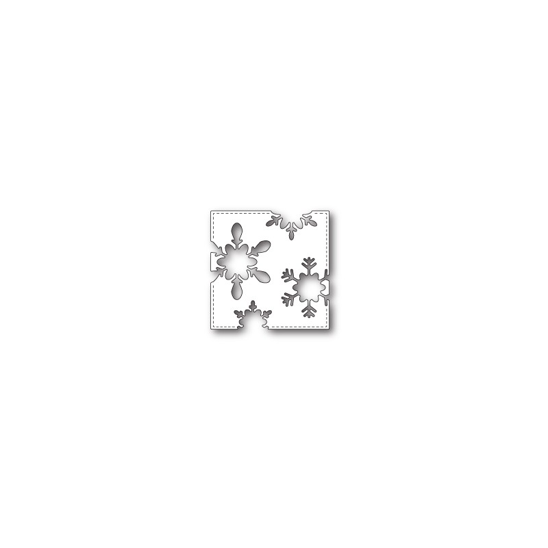 Die Poppystamps - Stitched Snowflake Square