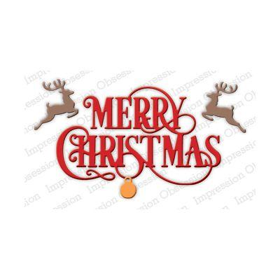 Die Impression Obsession - Merry Christmas Flourish