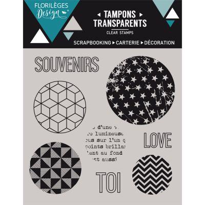 Tampons transparents Florilèges Col. 7 - Bulles géométriques
