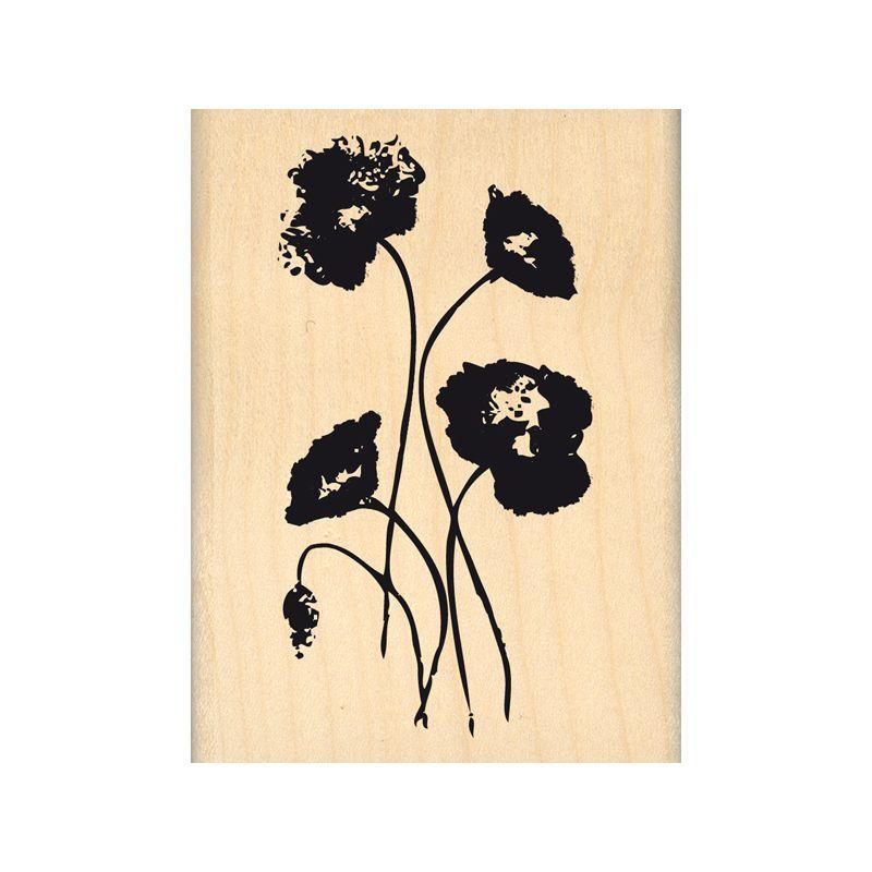 Tampon bois Florilèges - Hello Watercolor - Gentils coquelicots