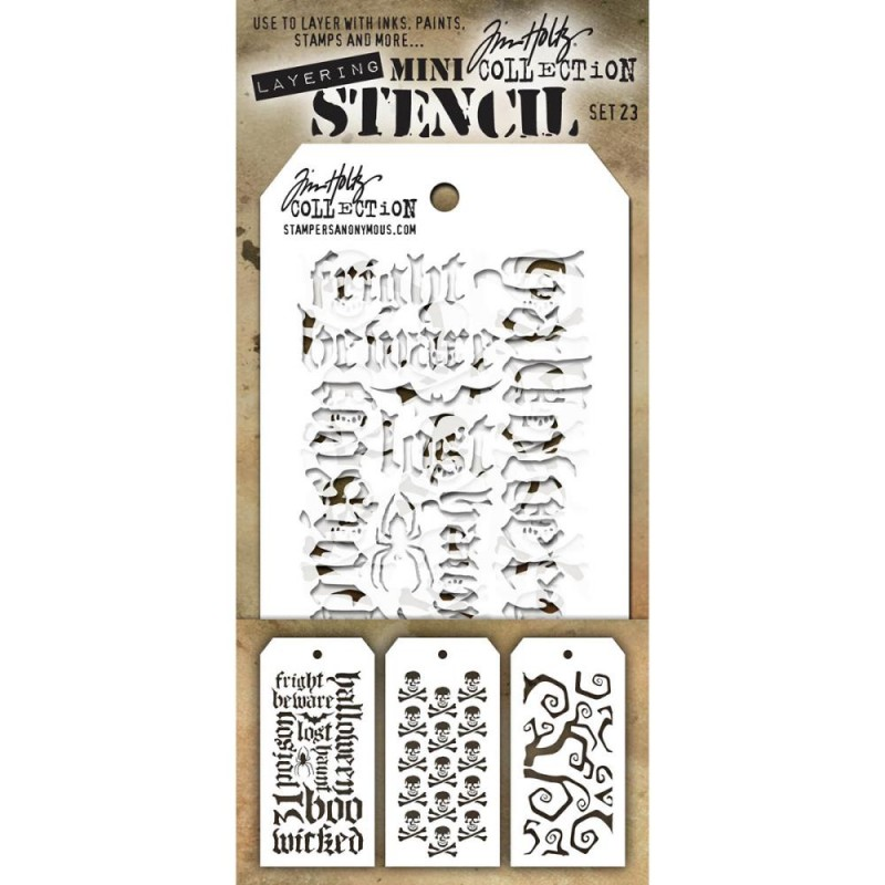 Mini Layered Stencil Tim Holtz - Set 23