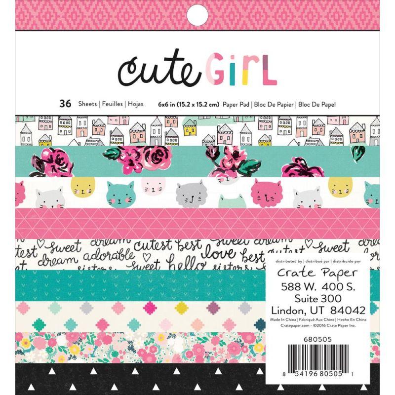 Mini Pack 15x15 - Crate Paper - Cute Girl