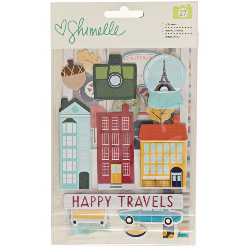 Stickers chipboards Shimelle - Go Now Go